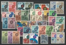 Gemeinschaft / CEPT / Europa 1967 Jahrgang 19 Ausgaben Komplett ** - Europa-CEPT