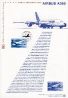 """"""" AIRBUS A380 """"  Sur Document Philatélique Officiel De 2006. N° YT 3974. Parfait état ! DPO - Aviones"""