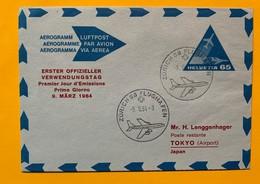 9779 -  Aérogramme No 1 65 Ct  FDC Zürich 58 09.06.1964 Vol Pour Tokyo - Entiers Postaux