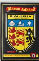 R :  Calvados :  RIVA - BELLA  - OUISTREHAM :  Carte  Autocolants , Blason   Adhésif - Riva Bella