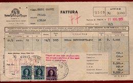 CINEMA FATTURA METRO GOLDWYN MAYER  FILM BELLA IMPRUDENTE  CINEMA ITALIA DI AIELLO 19/5/51 - MARCHE DA BOLLO AMGFTT - Italy