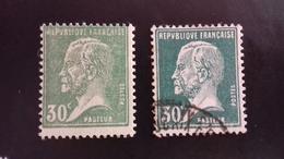 173** 30c Pasteur Vert Avec Variété D'impression - Francia