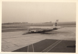 Photo Originale Avion BOEING 707-320C à Zaventem En 1968 - Aviation