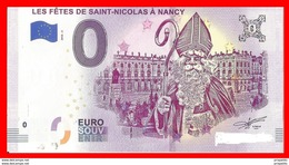 SAINT NICOLAS  BILLET 0€ SOUVENIR TOURISTIQUE,      Nancy 2018 - EURO