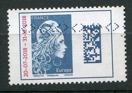 FRANCE 2018 Marianne L'Engagée Surchargée 20/7/2018 31/12/2018   Oblit / Used . - 2018-... Marianne L'Engagée