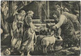 Y4924 Sandro Botticelli - Le Figlie Di Ietro Al Pozzo - Roma Cappella Sistina - Dipinto Paint Peinture / Non Viaggiata - Paintings