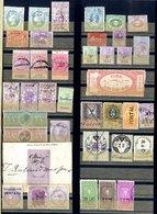 REVENUES, FISCALS, BACK OF THE BOOK Range Of Over 700 Incl. India, U.S, Ceylon, Europe, GB, Etc. (700+) - Non Classés