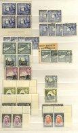 CYPRUS & GIBRALTAR 1880-2000+ Duplicated Ranges Incl. 1880 1d Red Plates M (6), 1881 1d Pl.205 M, General M & U Duplicat - Timbres
