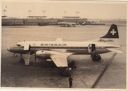 Photo Originale Avion CONVAIR 340 Metropolitan à Zaventem Swissair En 1965 - Aviation