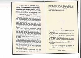 DP 9599 - OSCAR AERNOUDT - DEBEUF - ICHTEGEM 1876 + WERVIK 1962 - Images Religieuses
