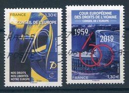 FRANCE 2019 Conseil De L'Europe Cour Européenne, Droits   Oblit / Used - Officials