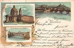 CPA RICORDO DI TORINO - R. Basilica Di Superga - Ponte Mosca Sulla Dora - Pont Vite. Eman I SULPO - Chiese