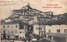 CPA Monforte D' Alba - Piazza Umberto I. In Giorno Di Fiera - Cuneo