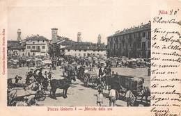 CPA Alba - Piazza Umberto I. - Mercato Delle Uve - Cuneo