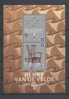 Blok 211 HENRY VAN DE VELDE  POSTFRIS** 2013 - Blocks & Kleinbögen 1962-....