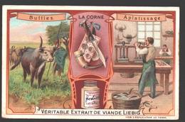 La Corne - Buffles - Aplatissage - Liebig - Vintage Chromo - Signed Liebig On The Back - Liebig