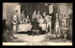 75 - PARIS - GRAVURE - HISTOIRE DE LA REVOLUTION - INTERIEUR D'UN COMITE REVOLUTIONNAIRE D'APRES TONY JOHANNOT - Autres