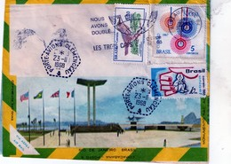 Obliteration  (navale)--porte-avions Clemenceau  Au Bresil Le 23-11-1968. - Postmark Collection (Covers)