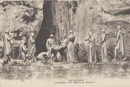Lourdes Lot De 10 Cartes Differentes Sur Le Chemin De Croix - Lourdes