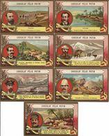 "7 CHROMO CHOCOLAT FELIX POTIN - PARIS 1890 SERIE ""EXPLORATEURS"" - Sonstige"