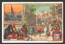 Cadran Solaire à Delhi - Une Rue à Delhi - Liebig - Vintage Chromo - Signed Liebig On The Back - Liebig