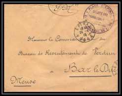 2819 Lettre France Guerre 1914/1918 Tirailleurs Pour Bar Le Duc Par épinal Vosges 1915 - Poststempel (Briefe)