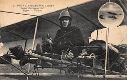 CPA NOS AVIATEURS MILITAIRES - Sapeur Grandjean Sur Biplan H. Farman - Aviateurs