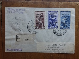 TRIESTE A - Fiera Di Trieste 1951 Su Raccomandata Viaggiata - Annulli Retro + Spese Postali - Storia Postale