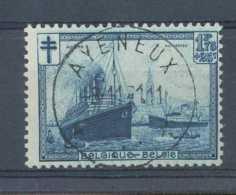 D - [200190]TB//O/Used-N° 297, 1F75+25c Bleu, Port D'Anvers, Bateau, Obl Concours Rare 'AYENEUX' - Oblitérés