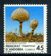 Andorra 1991 / Mushrooms MNH Setas Pilze Champignons Fungi / Ef35  38-29 - Hongos