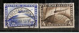 GERMANY1928:  ZEPPELIN SET Michel423-4yused Cat.Value110Euros ($121+) - Zeppelins