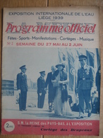 Programme Officiel De L'EXPOSITION INTERNATIONALE DE L'EAU, LIEGE 1939 - N°2 - 24 PAGES - Programma's