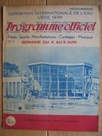 Programme Officiel De L'EXPOSITION INTERNATIONALE DE L'EAU, LIEGE 1939 - N°3 - 24 PAGES - Programma's