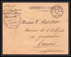 3161 Lettre France Guerre 1914/1918 Gendarmerie Nationale Rive De Gier Loire 1919 - Postmark Collection (Covers)