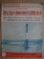 Programme Officiel De L'EXPOSITION INTERNATIONALE DE L'EAU, LIEGE 1939 - N°11 - 24 PAGES - Programma's