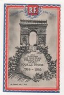 CHROMO SOLDAT INCONNU ARC DE TRIOMPHE - R. F. HONNEUR ET PATRIE - A. JOINARD EDIT. PARIS - Cromo