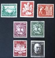1943-1944 Winterhilfswerk Mi.859,  Lübeck Mi.862, Rosegger Mi.855, Goldschmiedekunst Mi.860-861, + - Germania
