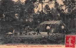 CPA Eclaron - Le Der - Exploitation Forestière - Une Loge De Bûcherons - Eclaron Braucourt Sainte Liviere