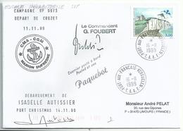 YT 3239 Falaises De Dieppe - Cerf Volant - Posté à Bord Du MD - Débarquement D'Isabelle Autissier - Kerguelen - 16/11/99 - France