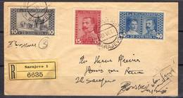 BOSNIE-HERZÉGOVINE !  LETTRE Recommandée Vers Sarajevo De 1917 ! - 1945-.... 2ème République