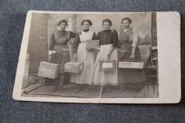 Photo Carte Postale Originale,RARE Ancienne Carte,colis Pour La Poste,région De Courcelles - Poste & Facteurs