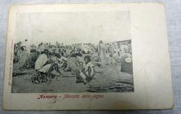 CPA-KP-PC- Erytree - COLONIA ITALIANA --  ASMARA MERCATO DELLA LEGNA 1900 - Erythrée