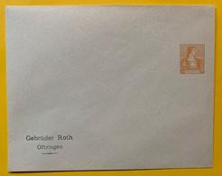 9784 -  Enveloppe Privée Gebrüder Roth Oftringen 12 Ct Orange Neuve - Interi Postali
