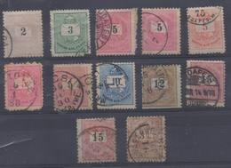 HONGRIE !  Timbres Anciens De 174 à 1898 ! VARIÉTÉS Et Belles ANNULATIONS ! - Hongrie