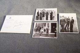 Exposition Bruxelles 1958 ,RARE Photo Originale Avec Le Roi Léopold ,lot De 3 Photos,12 Cm. Sur 9 Cm.Expo 58 - Obj. 'Herinnering Van'