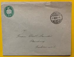9785 -  Enveloppe 25 Ct Vert Genève 3.12.1893 - Entiers Postaux