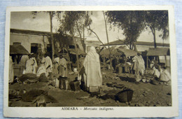 CPA-KP-PC- Erytree - COLONIA ITALIANA --  ASMARA MERCATO INDIGENO ANIME 1937 - Erythrée