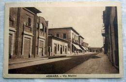 CPA-KP-PC- Erytree - COLONIA ITALIANA --  ASMARA VIA MARTINI 1935 - Erythrée