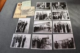 Exposition Bruxelles 1958 ,RARE Photo Originale Avec Le Roi Léopold ,lot De 10 Photos,12 Cm. Sur 9 Cm.Expo 58 - Obj. 'Herinnering Van'