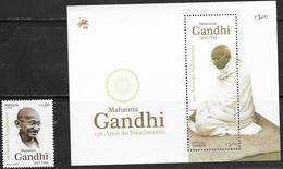 PORTUGAL, 2019, MNH, GANDHI, 1v+S/SHEET - Mahatma Gandhi
